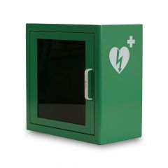 Groene universele AED wandkast inclusief alarm