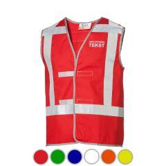 Rood vlamvertragend proban vest met opdruk