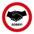 Handen schudden verboden pictogram (200 mm)