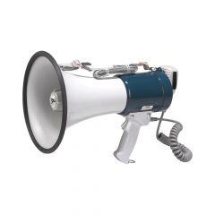 Megafoon met speaker blauw/wit