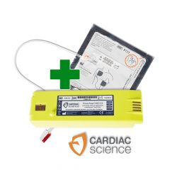 Voordeelset Cardiac science batterij en elektrodeb
