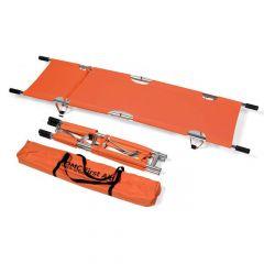Basic brancard oranje dubbel opvouwbaar met tas
