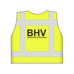 Fluor geel BHV hesje achterkant