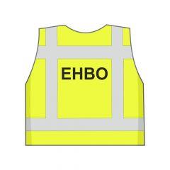 Fluor geel EHBO hesje achterkant