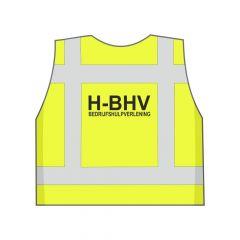 Fluor geel H-BHV hesje achterkant