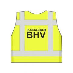 Fluor geel Ploegleider BHV hesje achterkant