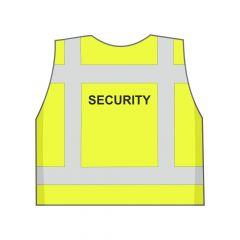 Fluor geel Security hesje achterkant