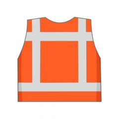 Fluor oranje veiligheidshesje achterkant