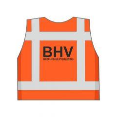 Fluor oranje BHV hesje achterkant