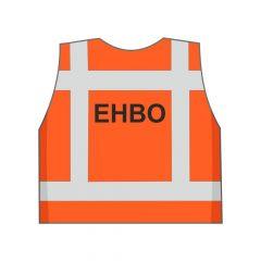 Fluor oranje EHBO hesje achterkant
