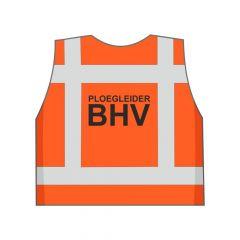 Fluor oranje Ploegleider BHV hesje achterkant