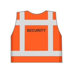 Fluor oranje Security hesje achterkant