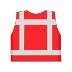 Rood veiligheidshesje achterkant