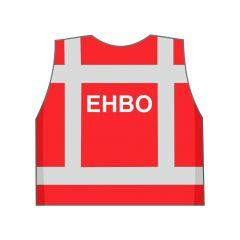 Rood EHBO hesje achterkant