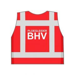 Rood Ploegleider BHV hesje achterkant