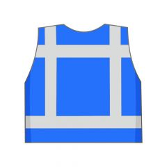 Blauw veiligheidshesje achterkant
