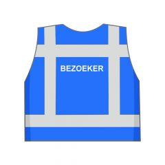 Blauw Bezoeker hesje achterkant