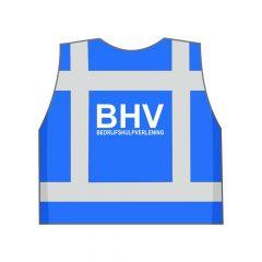Blauw BHV hesje achterkant