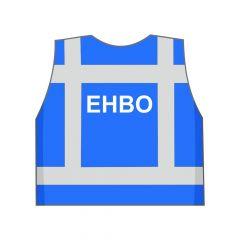 Blauw EHBO hesje achterkant