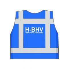 Blauw H-BHV hesje achterkant