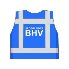 Blauw Ploegleider BHV hesje achterkant