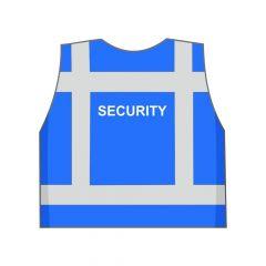Blauw Security hesje achterkant