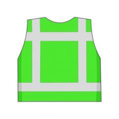 Groen veiligheidshesje achterkant