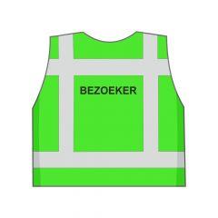 Groen Bezoeker hesje achterkant