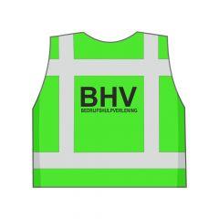 Groen BHV hesje achterkant