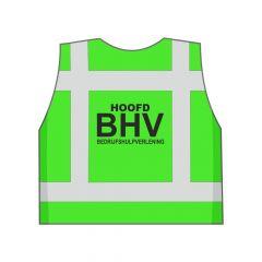 Groen Hoofd BHV veiligheidshesje achterkant
