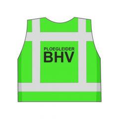 Groen Ploegleider BHV hesje achterkant