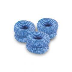 Blauwe vingerbobs