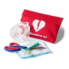 AED reanimatieset in rood tasje