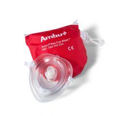 Ambu Res-cue Mask beademingsmasker in rood tasje