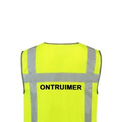 Vlamvertragend vest incl. opdruk ONTRUIMER