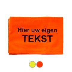 Mouwband met eigen opdruk oranje