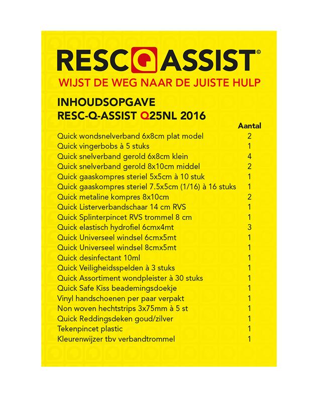 Inhoudsopgave ResQassist Q25